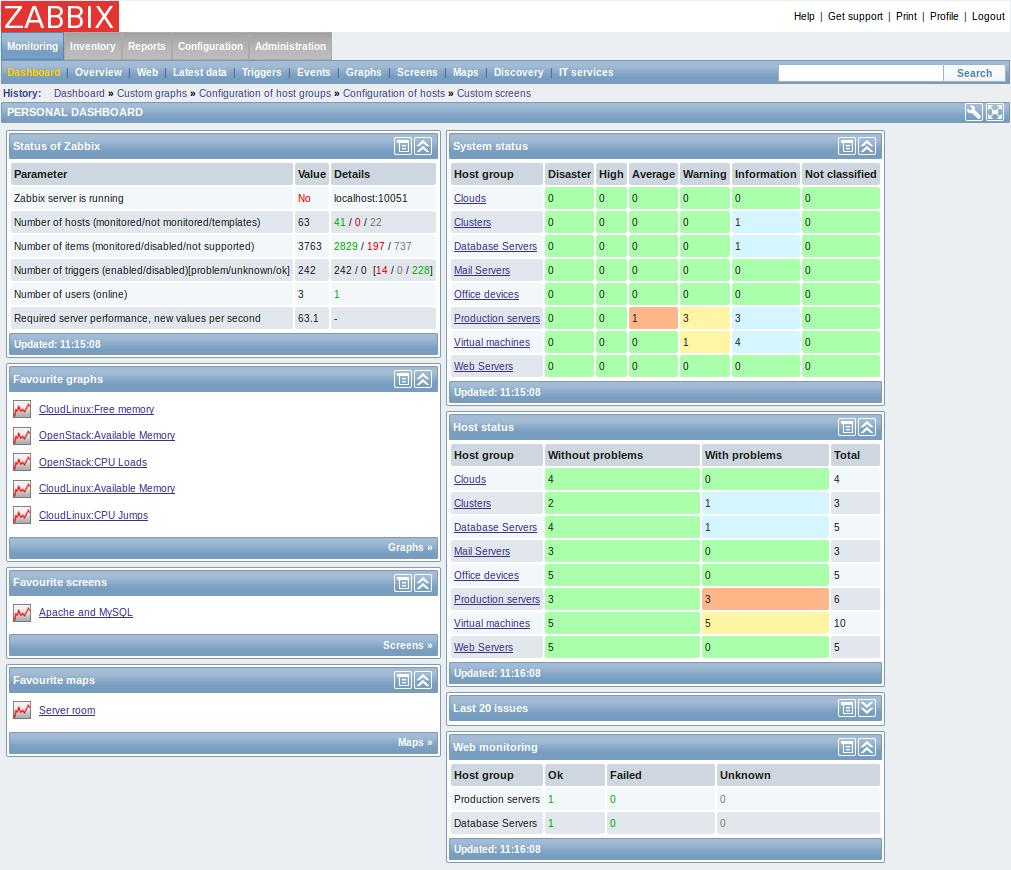 Network Bandwidth Nagios Dashboard : Zabbix is now available on dotdeb